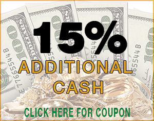 get an additional 15% cash when you sell your gold
